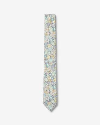 Express Slim Floral Print Liberty Fabric Cotton Tie