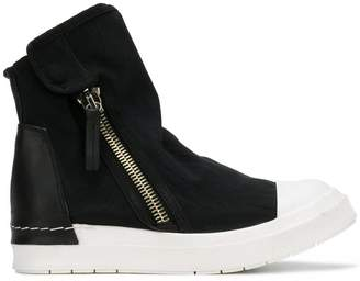 Cinzia Araia zipped flat sneakers