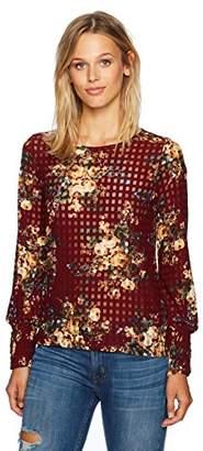 Freshman 1996 Women's Floral Checkered Top