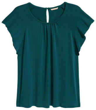 H&M H&M+ Short-sleeved Top - Green