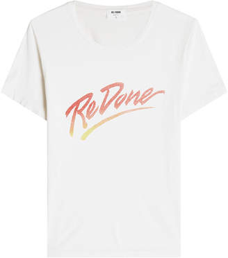 RE/DONE The Classic Tee Printed Cotton T-Shirt