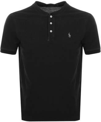 Ralph Lauren Crew Neck Pique T Shirt Black