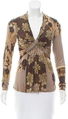 Etro Long Sleeve Printed Top