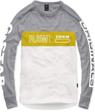 G Star Colorblocked Graphic Long-Sleeve Tee