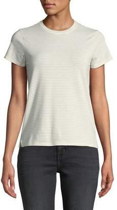ATM Anthony Thomas Melillo Sparkle Striped Jersey Short-Sleeve Top