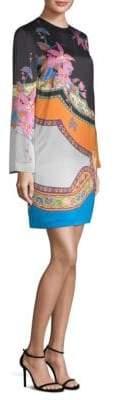Etro Colorblock Floral-Print Paisley Shift Dress