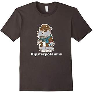 Hipster Hipsterpotamus Hippo Funny Graphic T-Shirt