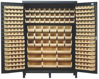 """Quantum 84"""" H x 60"""" W x 24"""" D Super Wide Heavy Duty Storage Cabinet Bin"""