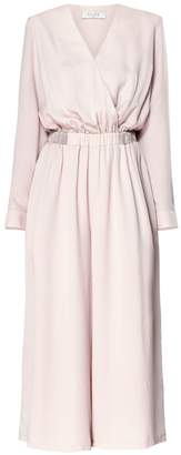 PAISIE - Cropped Jumpsuit With Wrap Front In Pink