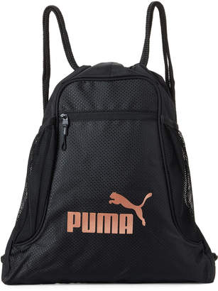 Puma Black & Gold Equinox Drawstring Sport Carrysack