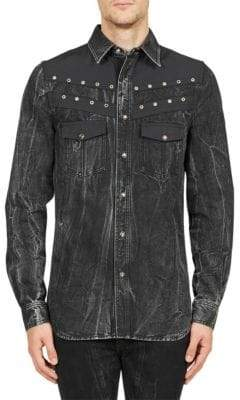 Givenchy Long-Sleeve Denim Button-Down Shirt