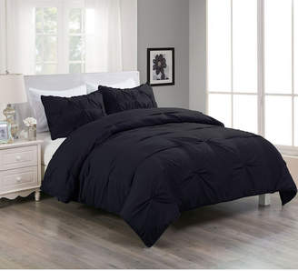 Cottonloft Lotus Home Pintuck Comforter Mini Set with Water and Stain Resistance Bedding