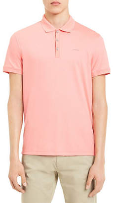 Calvin Klein Solid Cotton Polo Shirt