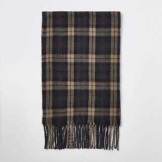River Island Black check scarf