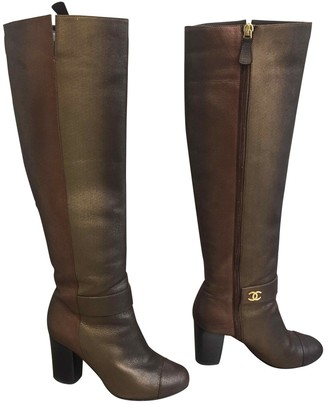 Chanel Leather riding boots