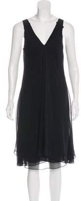 Magaschoni Silk Midi Dress