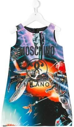 Moschino Kids Transformers print Mini Me dress