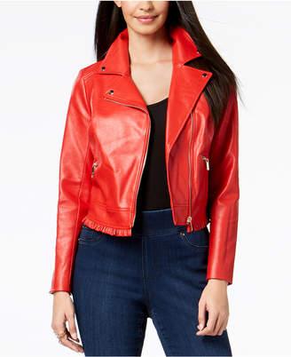 Thalia Sodi Ruffled Moto Jacket, Created for Macy's