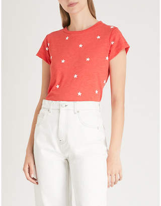 Wildfox Couture Star-print cotton-blend T-shirt