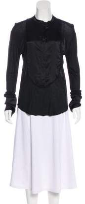 Thomas Wylde High-Low Knit Top