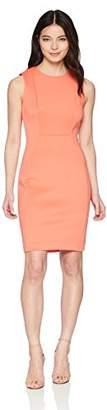 Calvin Klein Women's Petite Scuba Sleeveless Princess Seamed Sheath Dress