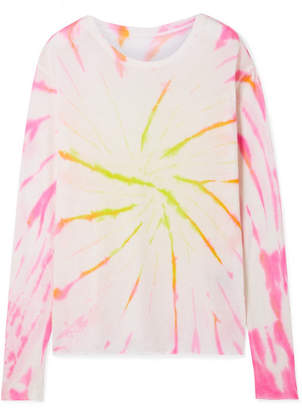 The Elder Statesman Cyclone Tie-dyed Cashmere And Silk-blend Sweater - Pink
