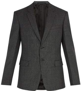 Prada Two Button Wool Suit Jacket - Mens - Grey