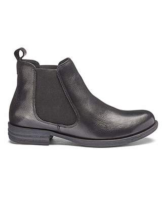 Heavenly Soles Leather Chelsea Ankle Boots EEE Fit