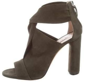 Casadei Suede Twist-Accented Sandals