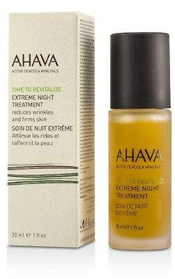 Ahava NEW Time To Revitalize Extreme Night Treatment 30ml Womens Skin Care