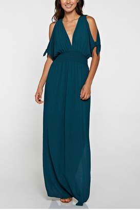 Factory Unknown Blue Cold Shoulder Dress