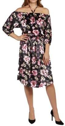 24/7 Comfort Apparel Chloe Velvet Halter Dress