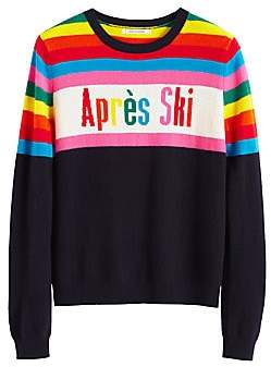 Chinti and Parker Women's Apres Ski Rainbow Intarsia Cashmere Sweater