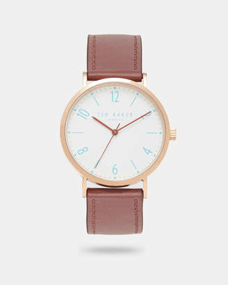 Ted Baker HANKP Leather strap watch