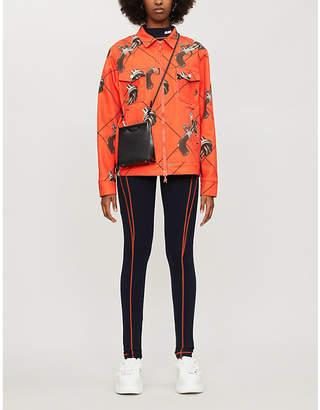 KIRIN PEGGY GOU Gun-print oversized denim jacket