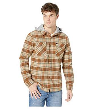 Brixton Men's Bowery Long Sleeve Standard Fit Hooded Flannel