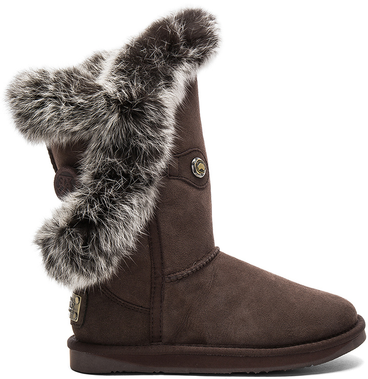 Australia Luxe Collective Australia Luxe Collective Nordic Angel Short Rabbit Fur and Shearling Boot