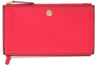 Lodis Downtown Lani RFID Double Zip Leather Pouch