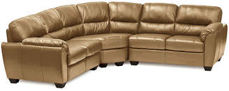 Asstd National Brand Leather Possibilities Pad-Arm 3-pc. Loveseat Sectional