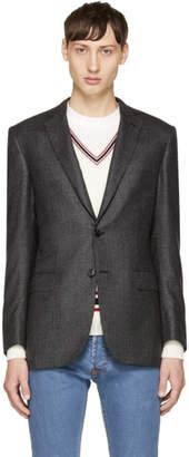 Brioni Black Houndstooth Madison Blazer