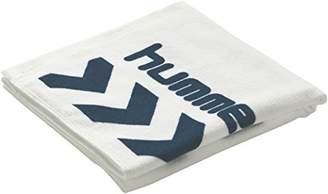 Hummel (ヒュンメル) - (ヒュンメル) hummel バスタオル HAA5009 1070 ホワイト×ネイビー F 600×1200mm