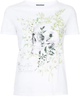 Alexander McQueen skull and floral print T-shirt
