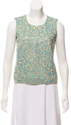 Dolce & Gabbana Sleeveless Brocade Top