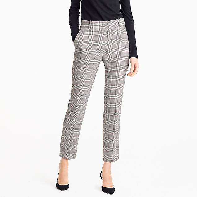 Tailored pant in lady glen plaid