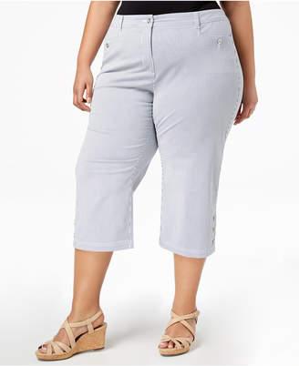Karen Scott Plus Size Striped Capri Pants, Created for Macy's