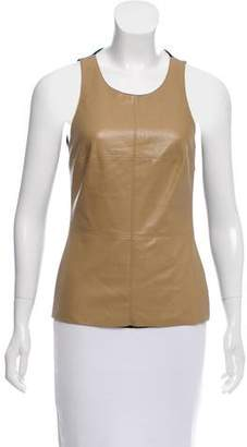 Bailey 44 Faux Leather Sleeveless Top