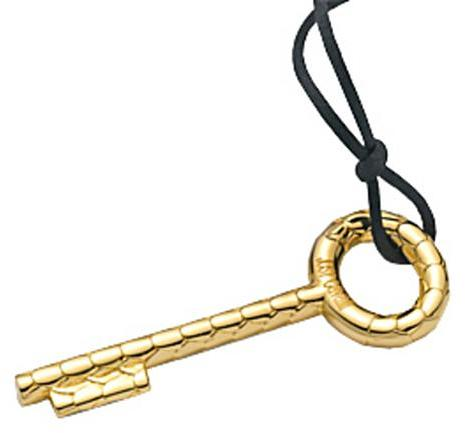 Just Cavalli Golden Key Necklace