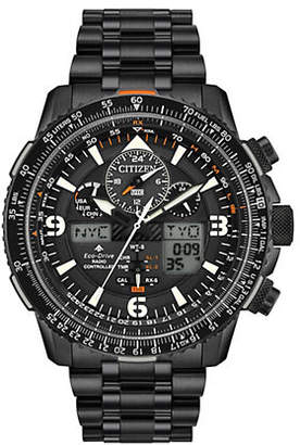 Citizen Eco-Drive WR200 Stainless Steel Black Analog Watch