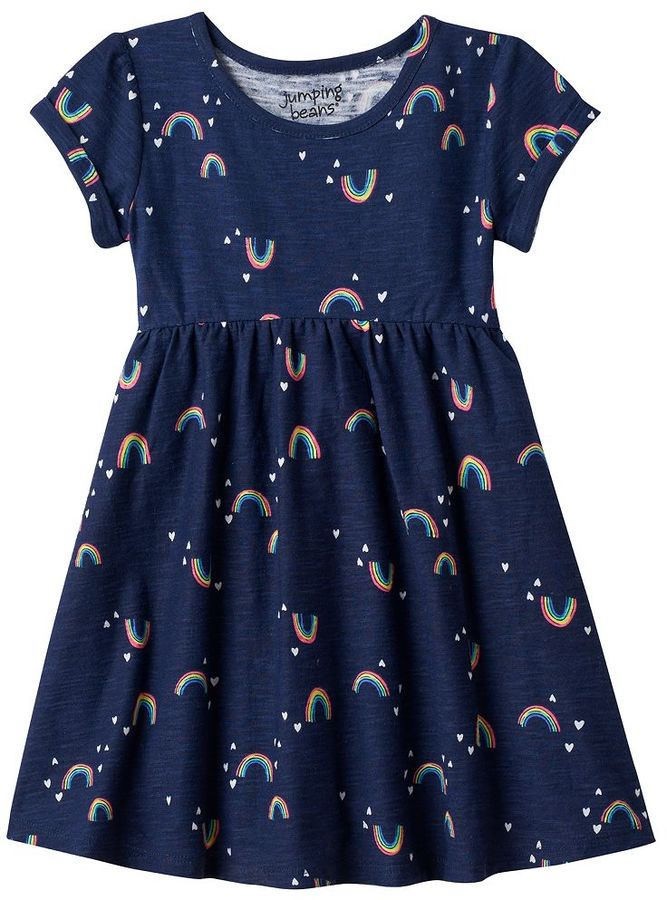 Toddler Girl Jumping Beans® Patterned Roll Cuff Dress