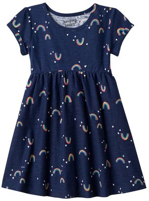 Toddler Girl Jumping Beans® Patterned Roll Cuff Dress $20 thestylecure.com